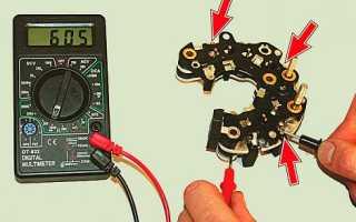 Как проверить сколько ампер выдает генератор мультиметром