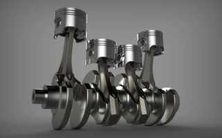Кривошипно-шатунный механизм КШМ двигателя
