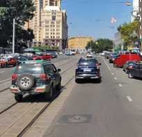 Правила разворота через трамвайные пути вне перекрестка