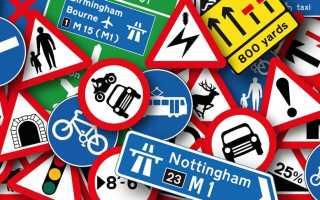 Знаки дорожного движения 2020 с пояснениями