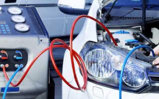 Какое давление в кондиционере автомобиля при заправке