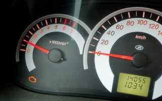 Горит сигнальная лампа неисправности системы управления двигателем