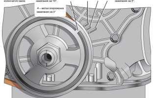 Как установить зажигание на двигателе 21011