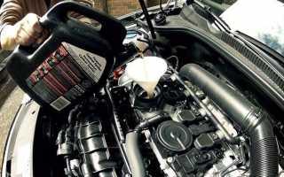 Количество масла для замены в двигателе