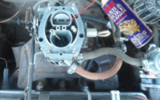 Чистка карбюратора на машине без снятия