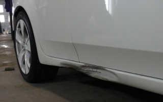 Как удалить вмятину на пороге машины
